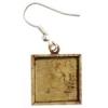 Bezel Handmade Earring Square 16x2mm Antique Brass